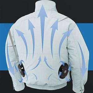 炎天下での作業や熱中症対策に最適な空調風神服