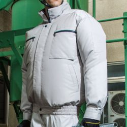 KU92600 空調風神服 チタン加工風気路長袖ブルゾン